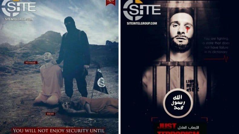 Los otros dos carteles de Daesh con Messi como protagonista