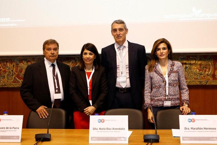 De izquierda a derecha, Dr. Belenes, Nuria Díaz, Juan A. Álvaro y Dra. Nuria Marañón