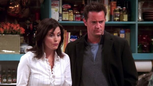 'Mónica' y 'Chandler' en 'Friends'