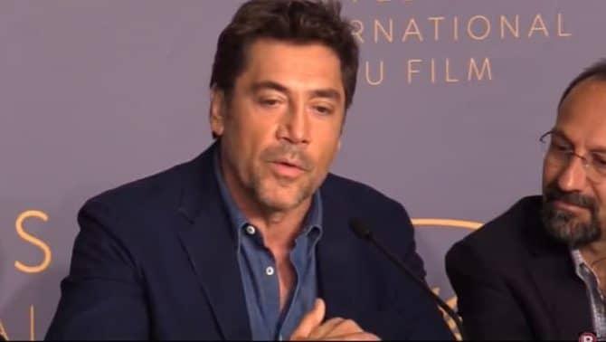 Javier Bardem en el festival de Cannes