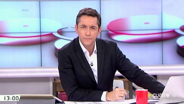 El presentador Javier Ruiz