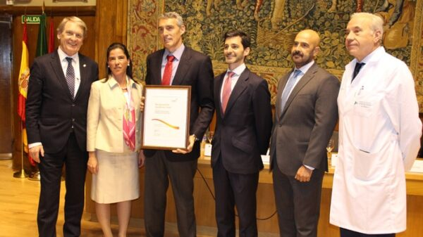 De izquierda a derecha, Tossaint, Eva Sáez, Álvaro de la Parra, Ciria, Rodríguez y el Dr. Guerra