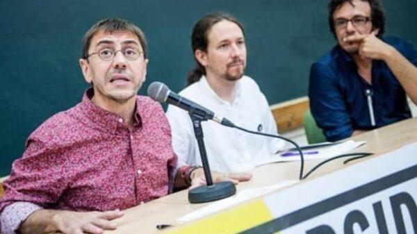 Juan Carlos Monedero, Pablo Iglesias y 'Kichi'