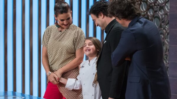 El jurado de 'Masterchef' con Esther, de 'Masterchef Junior'