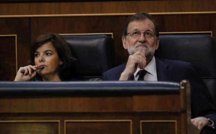 Rajoy y Santamaría