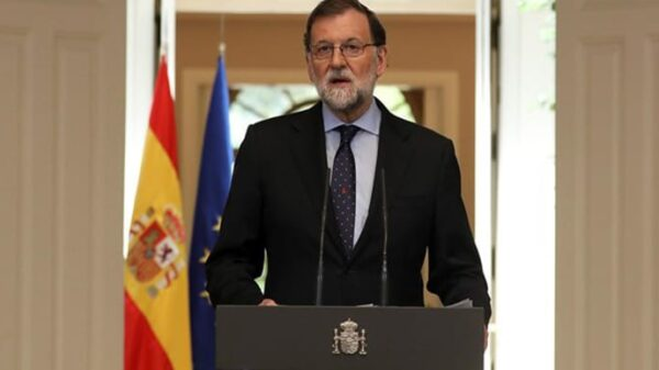 Mariano Rajoy durante su comparecencia este viernes