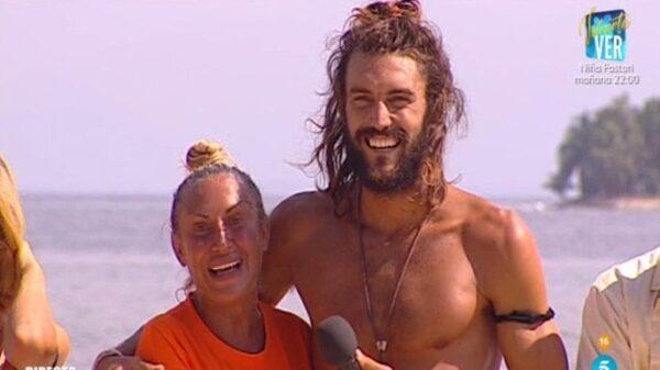 Logan y Raquel Mosquera en 'Supervivientes'