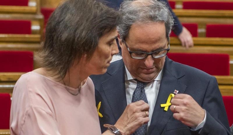 Quim Torra y su mujer, Carola Miró