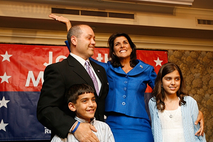 Nikki Haley con su familia