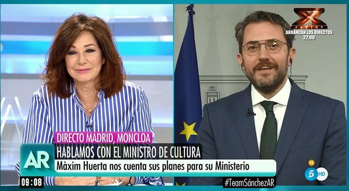 Ana Rosa Quintana y Màxim Huerta