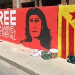 El mural del casal independentista Desperta Ferro de Reus en homenaje a Anna Gabriel