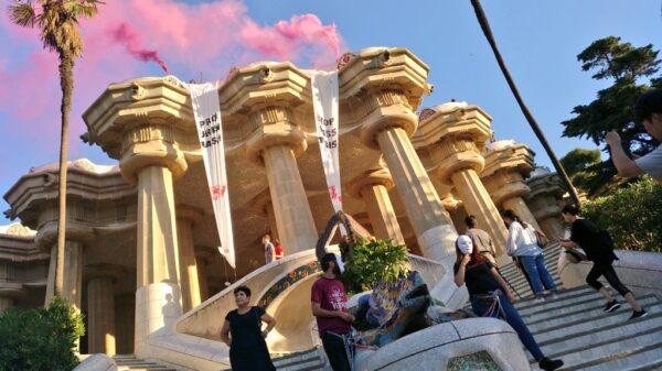 Un momento de la protesta, en una imagen difundida por Arran