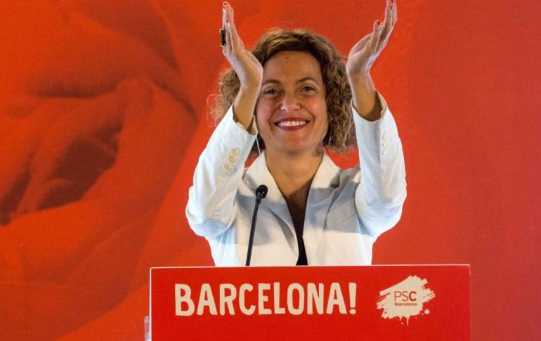 Meritxell Batet durante el acto celebrado este sábado en Barcelona