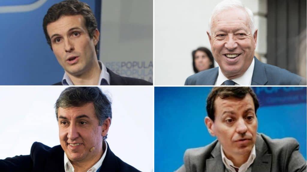 Pablo Casado, José Manuel García Margallo, José Ramón García Hernández y José Luis Bayo.