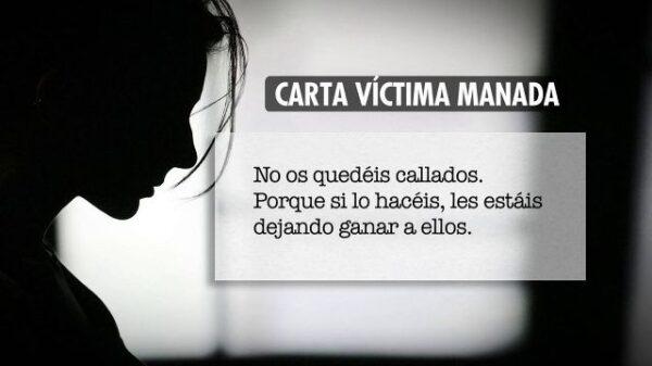 Uno de los extractos de la carta de la víctima de 'La Manada'