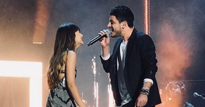 Cepeda y Aitana en el concierto 'OT' de Málaga