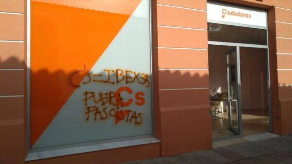 La sede de Ciudadanos en Cádiz