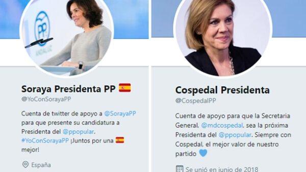 Cuentas de apoyo a Soraya Sáenz de Santamaría y María Dolores de Cospedal