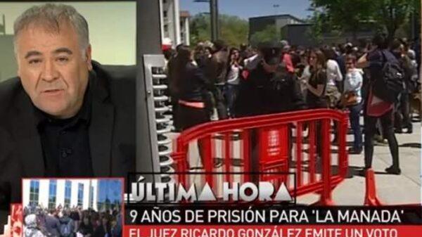 Ferreras hablando de La Manada en La Sexta