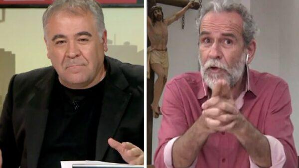 Antonio García Ferreras y Willy Toledo en 'Al rojo vivo'
