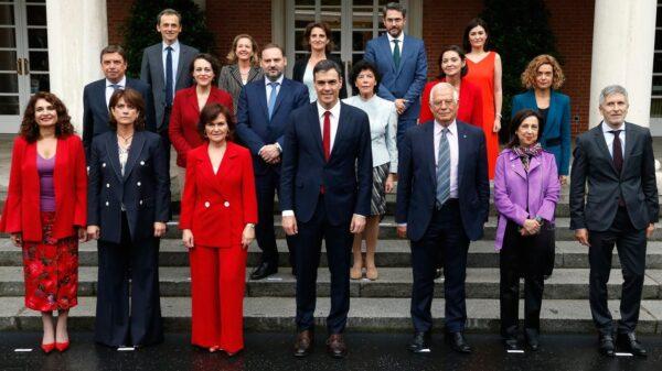 La foto de familia del Gobierno de Pedro Sánchez
