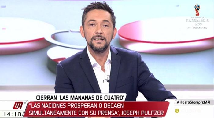 Javier Ruiz en 'Las mañanas de Cuatro'