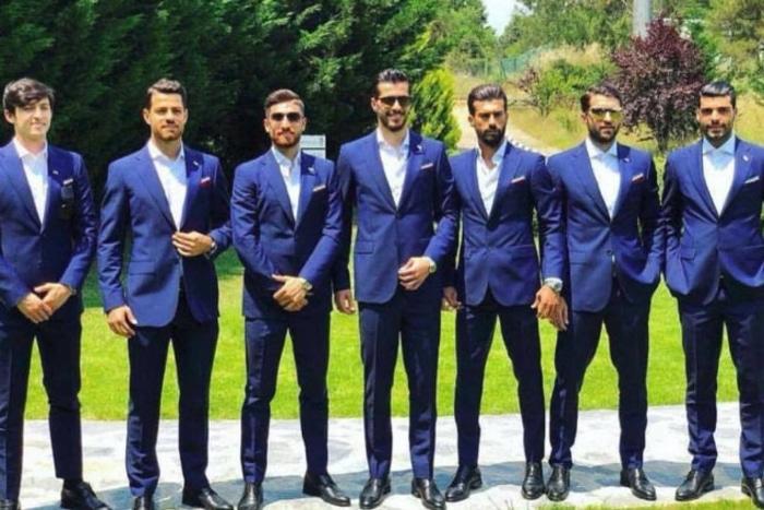 Jugadores de la selección de Irán