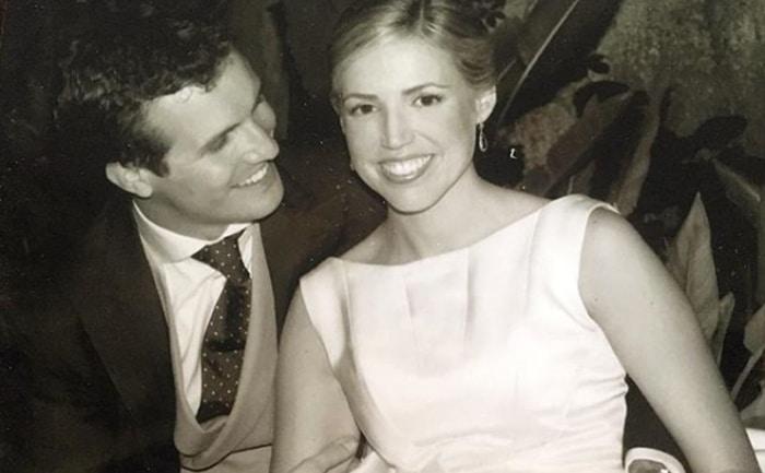 Pablo Casado y su mujer el día de su boda