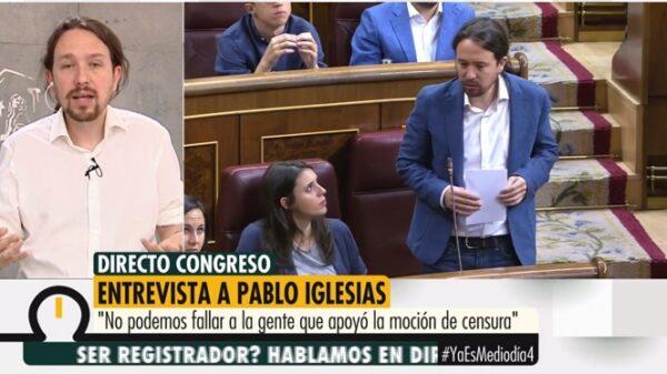Pablo Iglesias en 'Ya es mediodía'