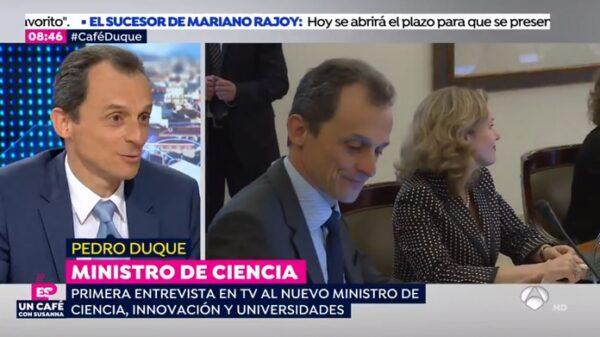 El ministro Pedro Duque en 'Espejo Público'