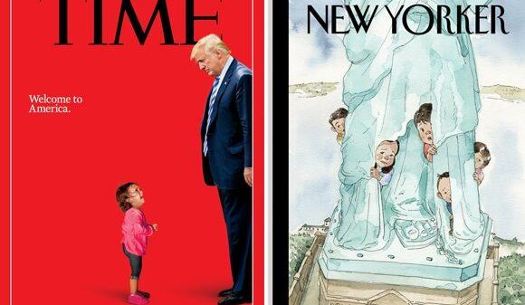Las portadas de 'Time' y 'The New Yorker'