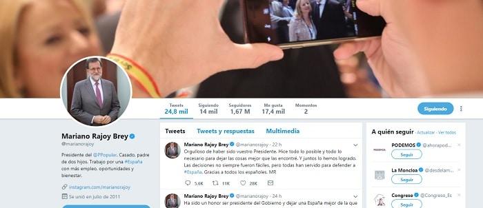 El perfil en Twitter tras salir del Gobierno