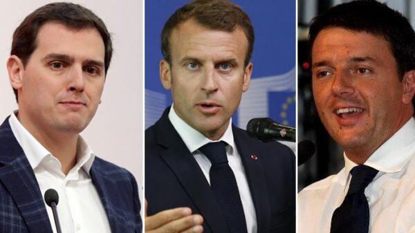 Rivera, Macron y Renzi