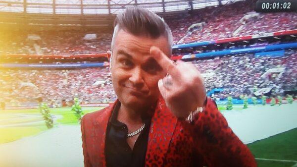 Robbie Williams en la inauguración del Mundial de Rusia