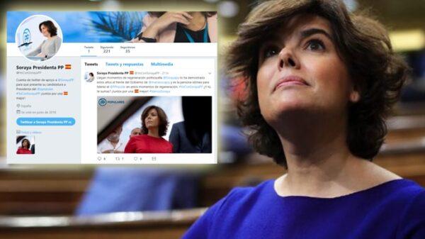 Soraya Sáenz de Santamaría y la cuenta de Twitter de apoyo