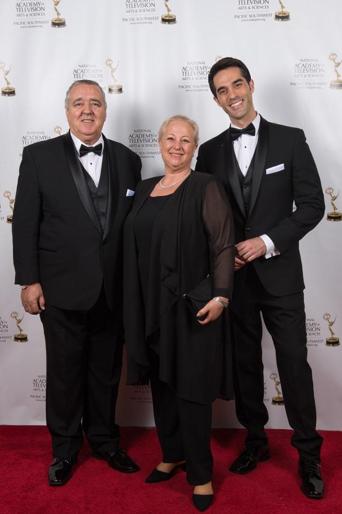 Antonio Texeira y sus padres, Marta Guerrero y Antonio Texeira