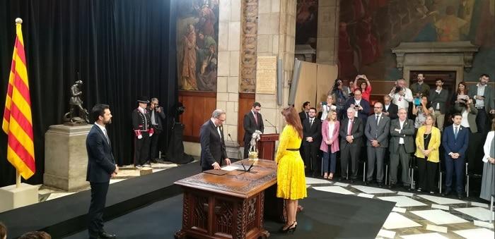 Toma posesión del Gobierno catalán