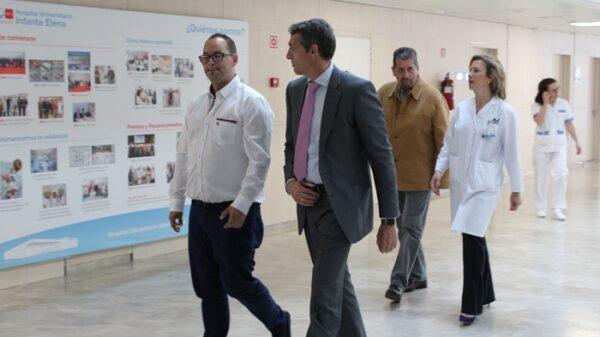 Álvaro de la Parra y la Dr. Sánchez con el alcalde y el concejal de Salud de Valdemoro