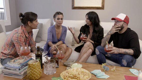 Julio Iglesias Jr., Elena Tablada, Toñi Salazar y Kiko Rivera en 'Ven a cenar conmigo'