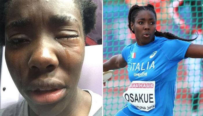 La atleta italiana Daisy Osakue