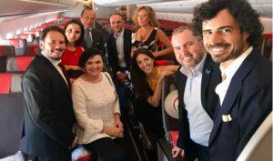 Junto a Antonio Vázquez, Israel Lozano, Darcy Monsalve, Adela Reina, Valeria Catán, Luis Santana y Pablo Sainz Villegas
