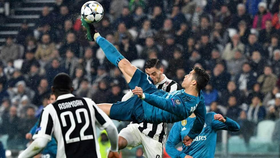 La chilena de Cristiano Ronaldo que acabó en gol en el partido Juventus-Real Madrid de este año