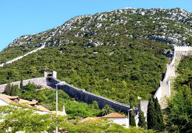 La muralla de Ston en Croacia