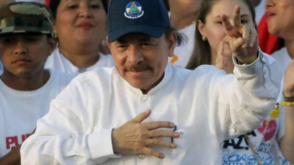 El presidente de Nicaragua, Daniel Ortega, durante el 39 aniversario de la revolución sandinista