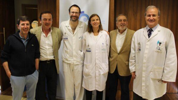 Los organizadores de la Jornada Informativa sobre Cáncer Colorrectal al término de su celebración en la Fundación Jiménez Díaz