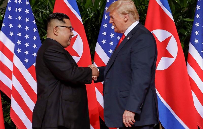 Kim Jong-un y Donald Trump durante su reunión en Singapur el pasado 12 de junio