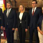Stanislav Rusu, Zurab Pololikashvili, Violeta Agrici, José Antonio Rupérez Caño y María Gloria Martínez-Manso Tricio