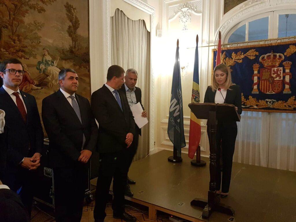 La embajadora de Moldavia en España, Violeta Agrici, en la presentación
