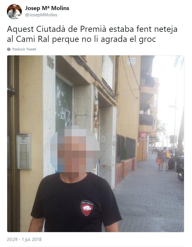 El tuit de Josep María Molins