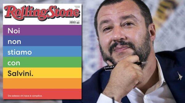 La portada de la edición italiana de la revista 'Rolling Stone' y Matteo Salvini